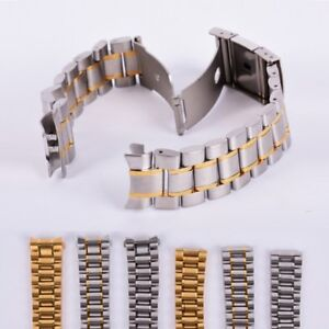 Stainless-Steel-Strap-Band-Clasp-Metal-Watch-Bracelet-18-20-22-24mm-Replacement