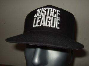 Justice League DC Comics Black Embroidered Snapback Adjustable Fit Cap Hat JL