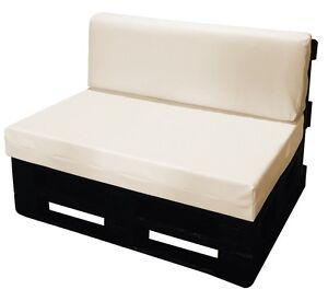 Cuscino per bancale seduta e schienale divano pallet bancali ecopelle beige ebay - Divano pallet schienale ...
