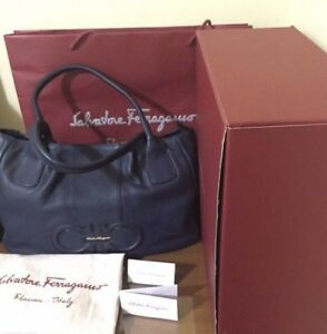 FIRE-SALE-AUTHENTIC-Salvatore-Ferragamo-Tote-Bag-Open-for-Layaway