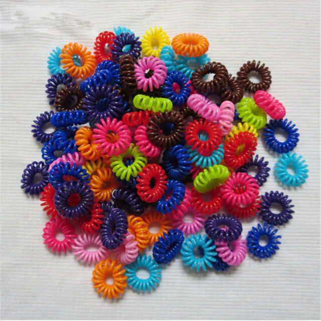 10/100pcs Girl Elastic Rubber Hair Ties Band Rope Ponytail Holder Fashion New