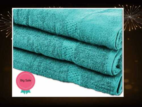 3Pcs Luxury Large Bath Sheets 100/% Cotton Bathroom Shower Towel Sheet Pack Of 3
