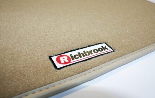 Original Richbrook Beige Alfombra alfombrillas de Con Ribete En Piel 07-10 Vw Touareg