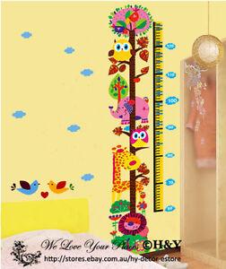 Jungle Safari Animals Height Chart Measurement Wall