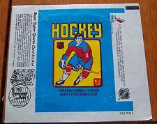 hockey wax pack wrapper NHL 1979-80 Topps  sports locker lot # 2