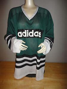 nosotros Almacén Inadecuado  Vintage ADIDAS Green / Black / White Hockey Jersey - Adult Size ...