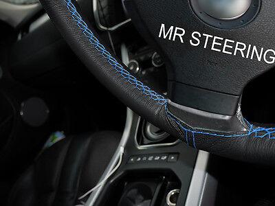 Accoppiamenti Mercedes A 140 97 + Real Leather Steering Wheel Cover Azzurro Double Stch- Può Essere Ripetutamente Ripetuto.