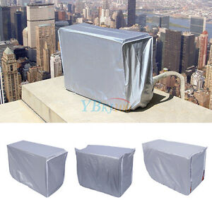 Waterproof sunproof outdoor window air conditioner cover protector external unit ebay for Window air conditioner covers exterior