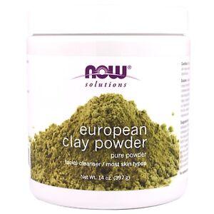 Now-Foods-European-Clay-Powder-Facial-Cleanser-amp-Detox-14-oz-SKIN-TONING-MASK