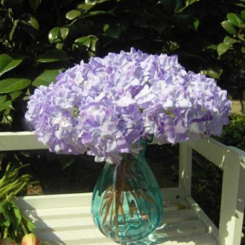 NEW Artificial Bouquet Home Wedding Craft Hydrangea Fake Bridal Silk Flowers