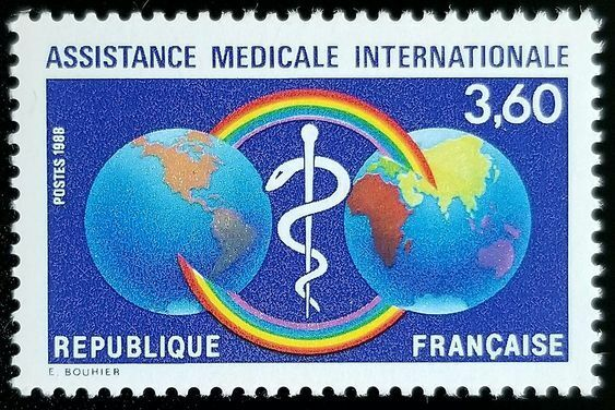 1988 France, International Medical Assistance Scott 211