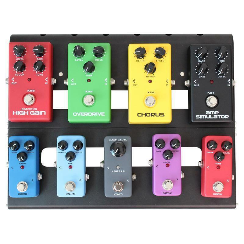 Effect Pedals Bag Board Pedalboard Pedal Guitar Alloy Case Electric QrdWCoBxe