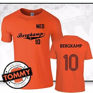 Dennis-Bergkamp-10-Holland-T-Shirt-Netherlands-Bergkamp-Arsenal-Legend-tshirt