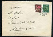 Suisse - Enveloppe de La Chaux pour Morteau en 1948 , affr. plaisant    réf F165