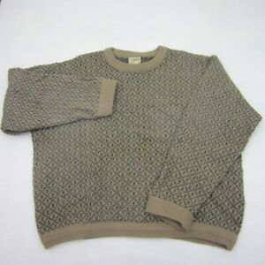 Vintage Ll Bean Mens Sweater Xl Crew Neck Pull Over Wool Blend