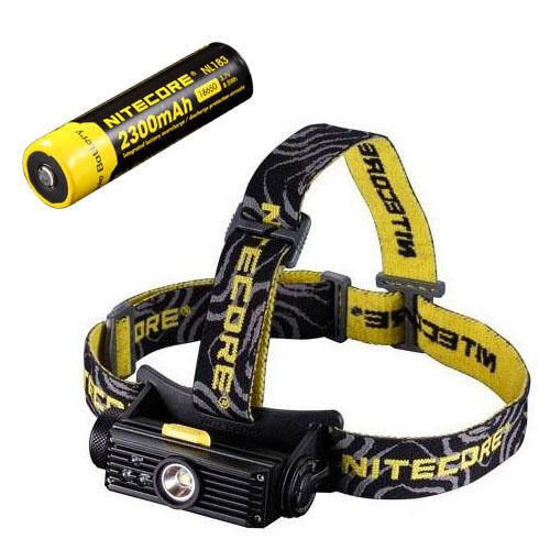 Nitecore HC90 Rechargeable XM-L2 Headlamp w/NL183 Rechargeable 18650 18650 18650 Battery 5edf30