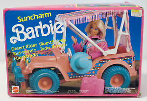 Mattel-Barbie-Vintage-suncharm-desierto-Rider-Western-Jeep-Muy-Raros