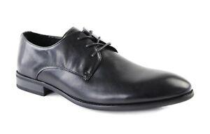 ZASEL-BERT-Black-Lace-Up-Dressy-Work-Men-039-s-Wedding-Men-Synthetic-Leather-Shoes
