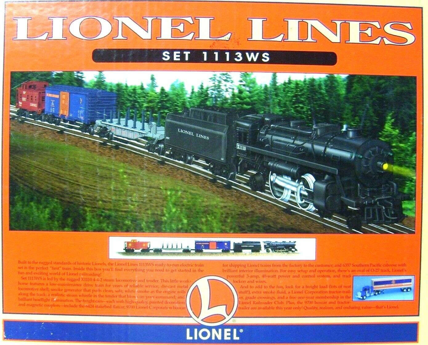 LIONEL 6-11910 LIONEL LINES TRAIN SET 1113WS    NEW