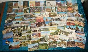 Lot-of-Premium-Hand-Selected-Vintage-Postcards-135-pcs-total-34-are-Linen