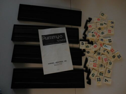 Replacement Game Parts ~ 1977 Rummy-O II /_ Assorted Tiles ONLY