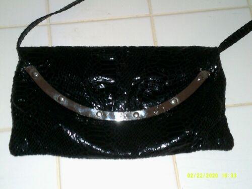 Bonita Bags New York Black Clutch Faux Alligator S