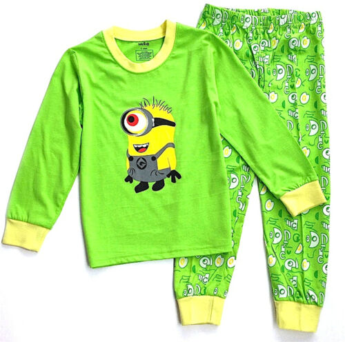 Disney Boys Disney Characters MINIONS Cotton Long Sleeves Pyjamas Sets,3.4.6.8YR