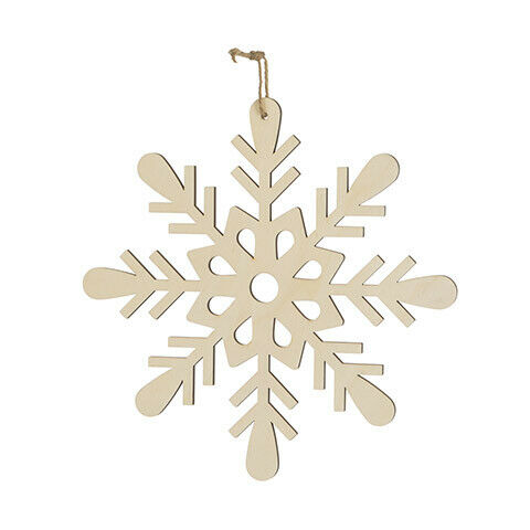 10 x 10 inches w Darice Christmas Unfinished Wood Snowflake Ornament