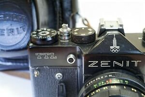 with gift USSR camera made in ussr Working Zenith em Moscow 1980 olympic games Soviet camera