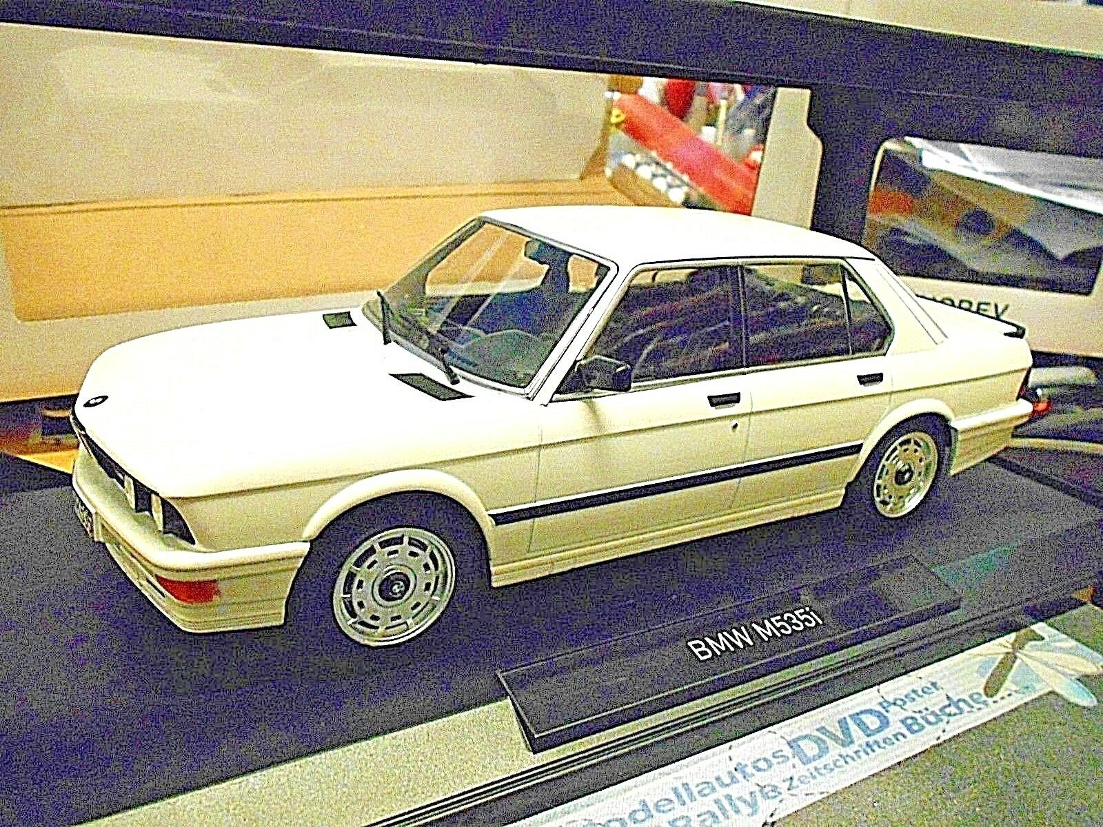 BMW 5er Série 535i M m535i 535 e28 1986 blanc Blanc NOREV RAR 1 18