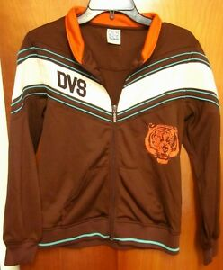 DVS-SHOE-COMPANY-rap-throwback-track-jacket-med-Tigers-mascot-hip-hop-retro