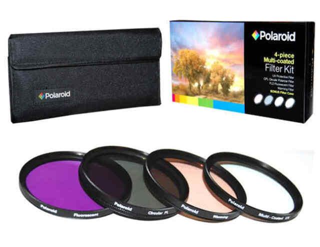 Polaroid Optics 58mm 4 Piece Camera Lens Filter Set (UV, CPL, FLD, WARMING)