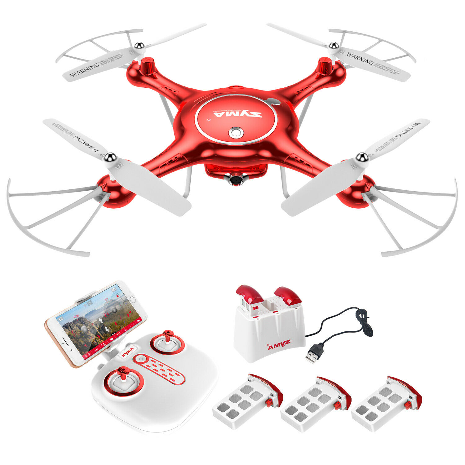 RC Drone Quadcopter HD Camera Syma X5UW WIFI FPV Real Time Altitude Hold Headles