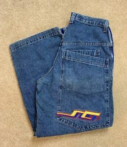 JNCO-Reverb-Jeans-Blue-Size-36x32-33x31-Vintage-Skateboard-26-034-Cuffs-90-s