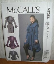 Womens/Misses Coats Jackets Sewing Pattern/McCall's M7256/SZ 6-14/UCN