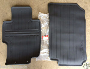 Genuine Oem Honda Accord Black Front All Season Floor Mat Set 2003 2007 Mats Ebay