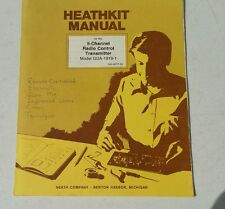 Heathkit 5 channel RC Transmitter GDA-1919-1 owners user manual  w/Schematic