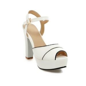 Womens-Shoes-Synthetic-Leather-Platform-High-Heels-Strappy-Sandals-AU-Size-s204