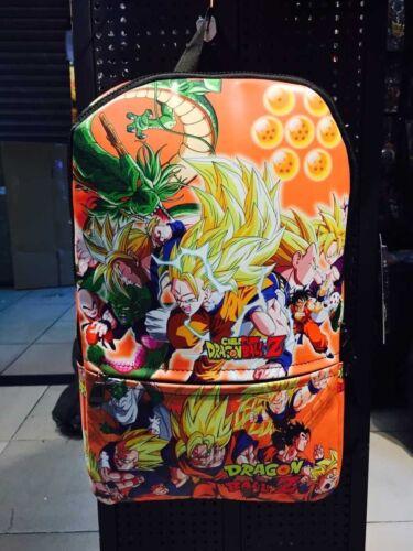 New Anime DRAGON BALL Z Logo Leather Sports Messenger School Backpack Bag