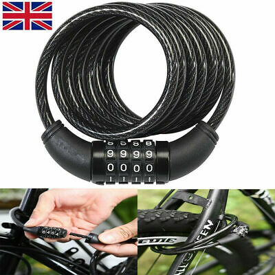 2pcs Large Combination Bike Resettable Code Lock HeavyDuty Bicycle Security Loop