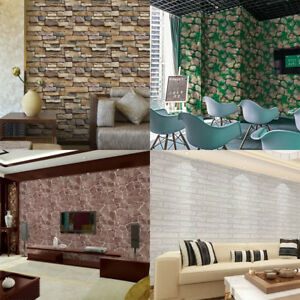 3d wand ziegelstein ziegel aufkleber selbstklebend pvc tapete wandaufkleber ebay. Black Bedroom Furniture Sets. Home Design Ideas
