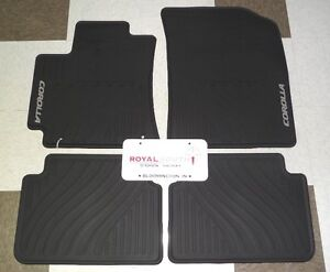 toyota corolla 09 13 factory all weather rubber floor mats genuine oem oe ebay. Black Bedroom Furniture Sets. Home Design Ideas