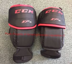 Details about CCM Goalie KP1 5 Knee Pad Guards ! Junior JR Youth Ice Roller  thigh guard Goal