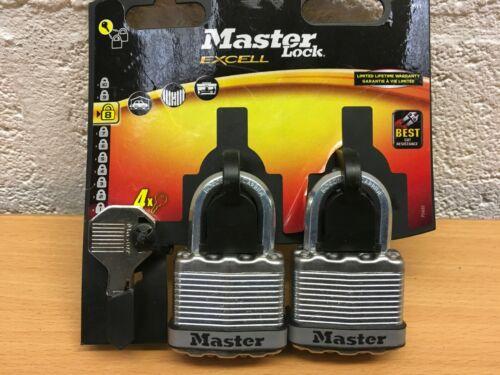 Master Lock Excell M1T Cadenas Duo 45 mm NEUF