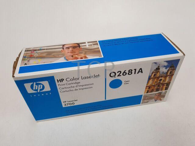 Genuine HP Q2681A Cyan Toner Cartridge LaseJet 3700