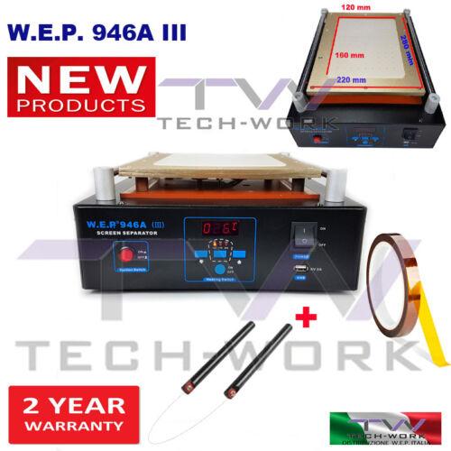 MACCHINA SEPARAZIONE VETRO RIMOZIONE LCD SCHERMO SCREEN SEPARATOR 1 KAPTON TAPE