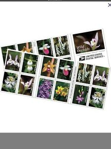 USPS Forever Stamps Orchids Flowers - Full Sheet