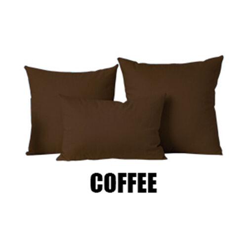 Solid Couleur SQUARE Maison Canapé Décor Pillow Cover Case Housse de coussin 12 18 24 26