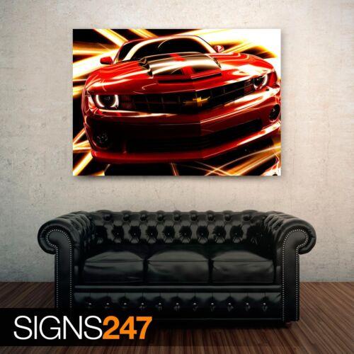 GM CHEVROLET CAMARO Picture Poster Print Art A0 A1 A2 A3 A4 Car Poster 0207