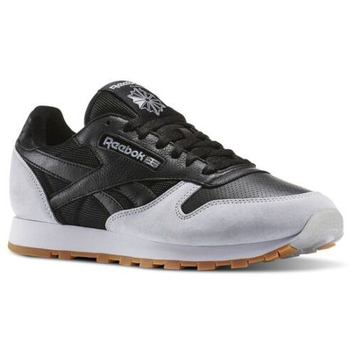 0980996bd0d6 Reebok x Kendrick Lamar Classic Leather Reebok Shoes Trainers CL Leather SPP  AR1895 Black Gray Gum Mens 41 - 47 8 ...